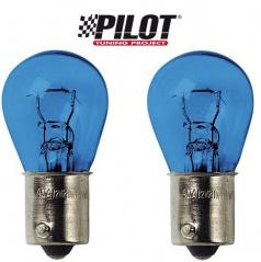 Sada žiaroviek s päticou BA15S 12V 21W symetrická Xenon - blue - 2 ks