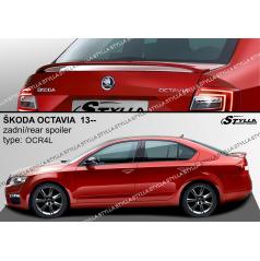 Zadný spoiler Škoda Octavia liftback 2012+ z (EÚ homologácia)