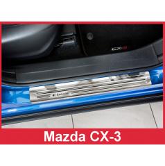 Nerez ochranné lišty prahu dveří 4ks Mazda CX-3 2015-16
