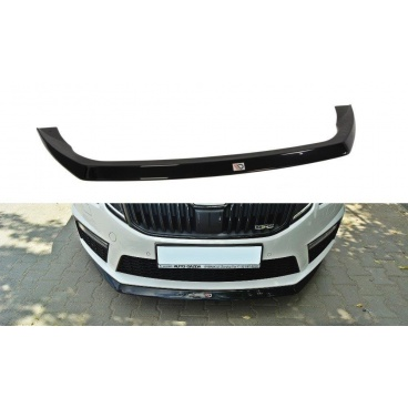 Spoiler pod predný nárazník ver.2 pre Škoda Octavia RS Facelift Mk3, Maxton Design (čierny lesklý plast ABS)