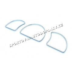 Opel Astra F / Vectra A - chromové rámečky budíků