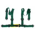 4-bodový 50 mm bezpečností pás E homologace zelený