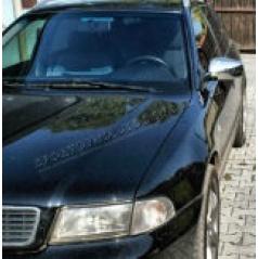 Audi A4 B5 95-01 - nerez (NIE plast !!!) chróm kryty zrkadiel OMSA Line