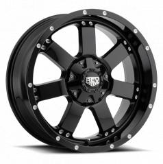 Off-Road alu disk REV serie 885 17X9 5x127 / 5x139.7 ET -12 lesklé čierna