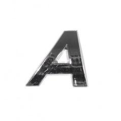 Chróm samolepiace písmenká a znaky (2 veľkosti)