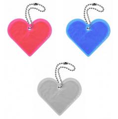 Prívesok reflexný Srdce - rôzne farby