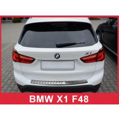 Nerez kryt- ochrana prahu zadného nárazníka BMW X1 F48 2015+