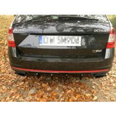 Vložka zadného nárazníka Ver.1 pre Škoda Octavia RS Mk3, Maxton Design (Carbon-Look)