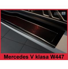 Nerez kryt-černá ochrana prahu zadního nárazníku Mercedes V W447 2014+