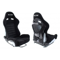 Športová polohovateľná sedačka A1 RACING SLIDE III čierny semiš (3 veľkosti)