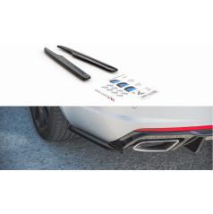 Bočné difúzory pod zadný nárazník ver.2 pre Škoda Octavia RS Mk3, Maxton Design (čierny lesklý plast ABS)