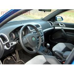 Dekory interiéru, sada 1 (lišty palubnej dosky a dverí 7 ks) ABS-strieborné matné, Škoda Octavia II, Škoda Octavia II Facelift
