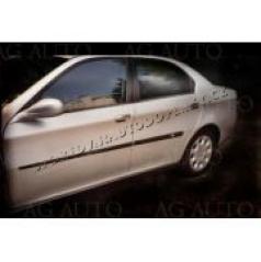 Alfa Romeo 166, 1998-2007, sedan, bočné ochranné lišty dverí