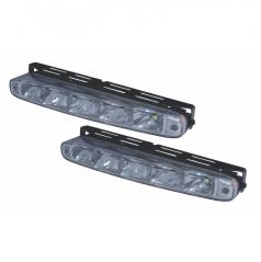 Svetlá pre denné svietenie 2x5 LED-Plus 220x27 mm