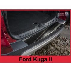 Nerez kryt- černá ochrana prahu zadního nárazníku Ford Kuga II 2013-16