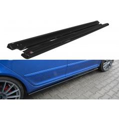Difúzory pod bočné prahy pre Škoda Octavia RS Facelift Mk2 Facelift, Maxton Design (čierny lesklý plast ABS)