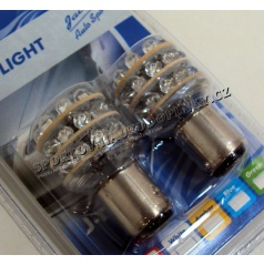 24 LED modré žiarovky jednovláknové BA 15S 21W 2 ks