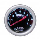 Prídavný budík Race Sport otáčkomer 0-8000 RPM 52 mm čierny