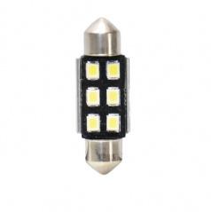 6 LED žiarovky SV8,5 Canbus T11x36mm 2ks