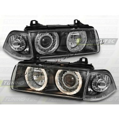 BMW E36 90-99 Angel Eyes black  (LPBM21) - sedan, compact, touring