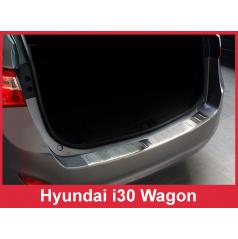 Nerez kryt- ochrana prahu zadního nárazníku Hyundai i30 Wagon 2012-16