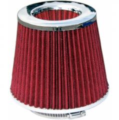 Športový vzduchový filter kužeľový červený twister