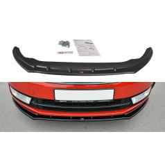 Spoiler pod predný nárazník ver.2 pre Škoda Rapid, Maxton Design (čierny lesklý plast ABS)