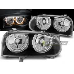 VW Golf 3 09.1991-08.1997 predné číre svetlá angel eyes black (LPVW29)