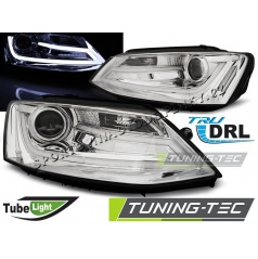 VW Jetta VI 1.2011- predné číre svetlá Tube Light chrome (LPVWK7)