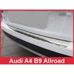 Nerez kryt- ochrana prahu zadného nárazníka Audi A4 B9 Allr. 2016+