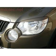 Kryty svetlometov Milotec (mračítka) - ABS čierny, Škoda Yeti 09/2009 +