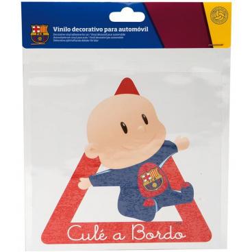 Originálne samolepka Dieťa v aute s logom FC Barcelona