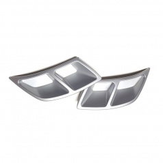 Spoilery zadného difuzora - atrapy výfuka Turbo design Glowing white - Škoda Kodiaq