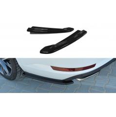 Bočné difúzory pod zadný nárazník pre Škoda Superb Mk3, Maxton Design (čierny lesklý plast ABS)