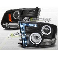 Dodge RAM 2009-11 predné číre svetlá Angel Eyes black (LPDO08)