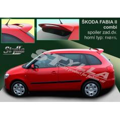 Škoda Fabia combi 2007+ spoiler zadných dverí horný (EÚ homologácia)