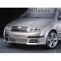 Lišty prednej masky - nerez, Škoda Fabia Facelift
