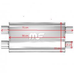 Športový výfuk Magnaflow performance 2xdual 79 mm