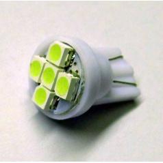 Žiarovka 6 SMD LED T10 12V 5W - farba biela - 1 ks