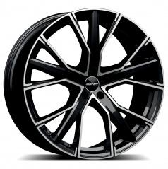 Alu koleso GMP GUNNER black diamond 10,0x22 5x130 ET50