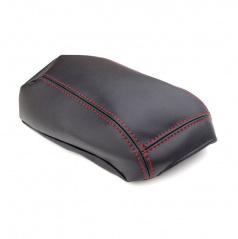 Kožený potah loketní opěrky Jumbo Box - červené prošití - Mitsubishi ASX