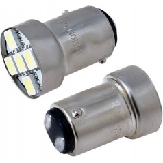Žiarovky 6 SMD LED BAY15d biele 12V