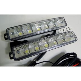 Světla pro denní svícení 2x5 velkých led, šířka/výška 150X30mm