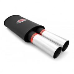 Športový výfuk RM DUAL 2x76 mm, vstup 63 mm
