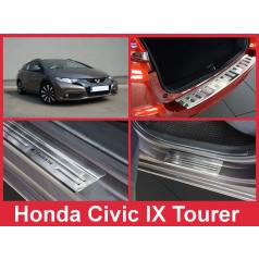 Nerez kryt- sestava-ochrana prahu zadního nárazníku+ochranné lišty prahu dveří Honda Civic IX Tourer 2014-16