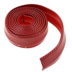 Univerzálny spodný pružný lip s podlepením červený karbón vzor
