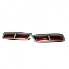 Škoda Superb III - spojlery zadného difúzora alu - glowing red