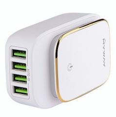 Sieťová domáce nabíjačka so 4 USB 2,4A (EÚ, UK i USA zástrčka)