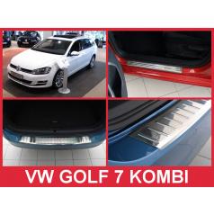 Nerez kryt zostava ochrana prahu zadného nárazníka + ochranné lišty prahu dverí VW Golf VII kombi 2012-16