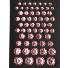 Dekoratívne brúsené kamienky ružové 59 ks s podlepením